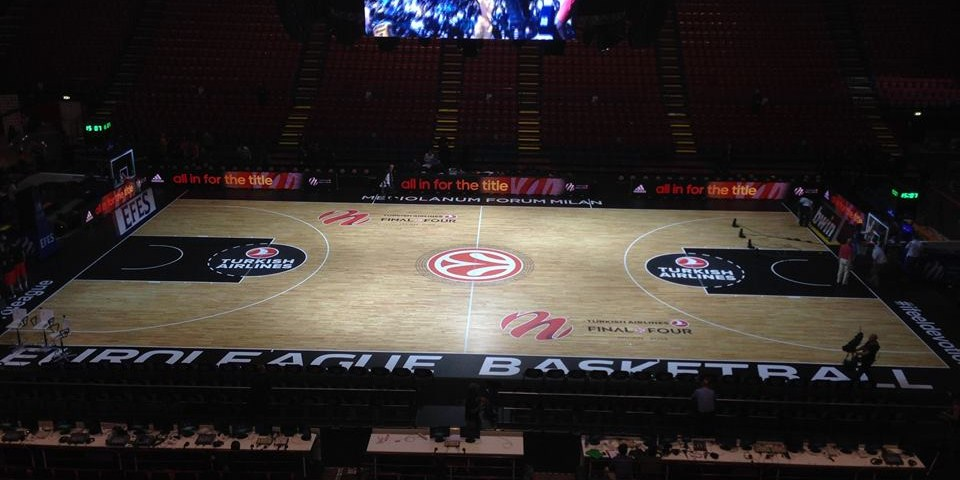 euroleague final four 2014 milano portable sport floor parquet dalla riva