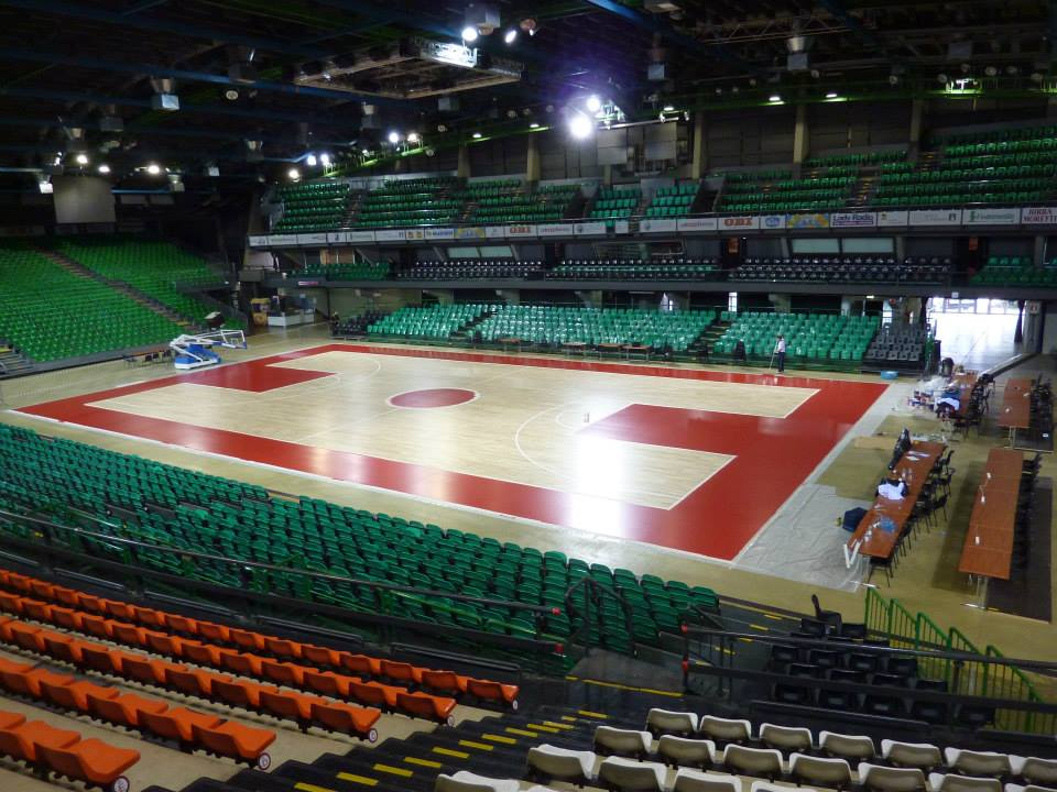 Nelson Mandela Forum Firenze: portable sports floor