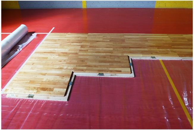 portable sport floor parquet removable dalla riva
