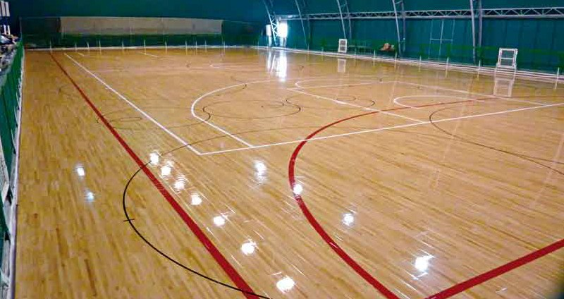 sports parquet for skating and hockey