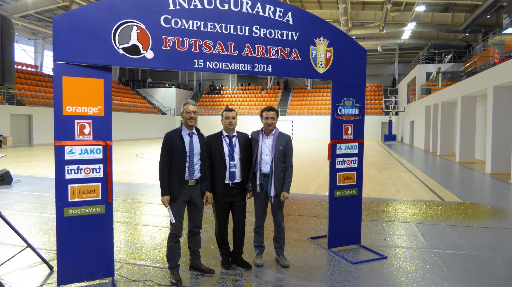 SPORTS FLOOR PARQUET DALLA RIVA INAUGURATION FUTSAL ARENA 2014