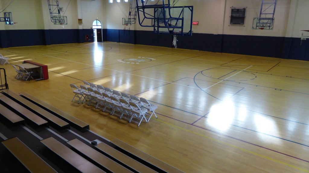the old sports floor of the military base of Aviano