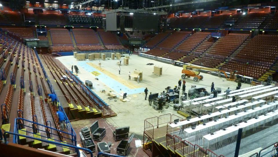 EUROLEAGUE FINAL FOUR 2014 MILAN PORTABLE SPORTS PARQUET ASSAGO FORUM