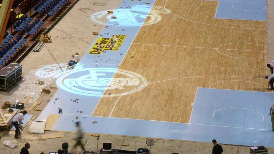 EUROLEAGUE FINAL FOUR 2014 MILAN PORTABLE SPORTS FLOOR DALLA RIVA