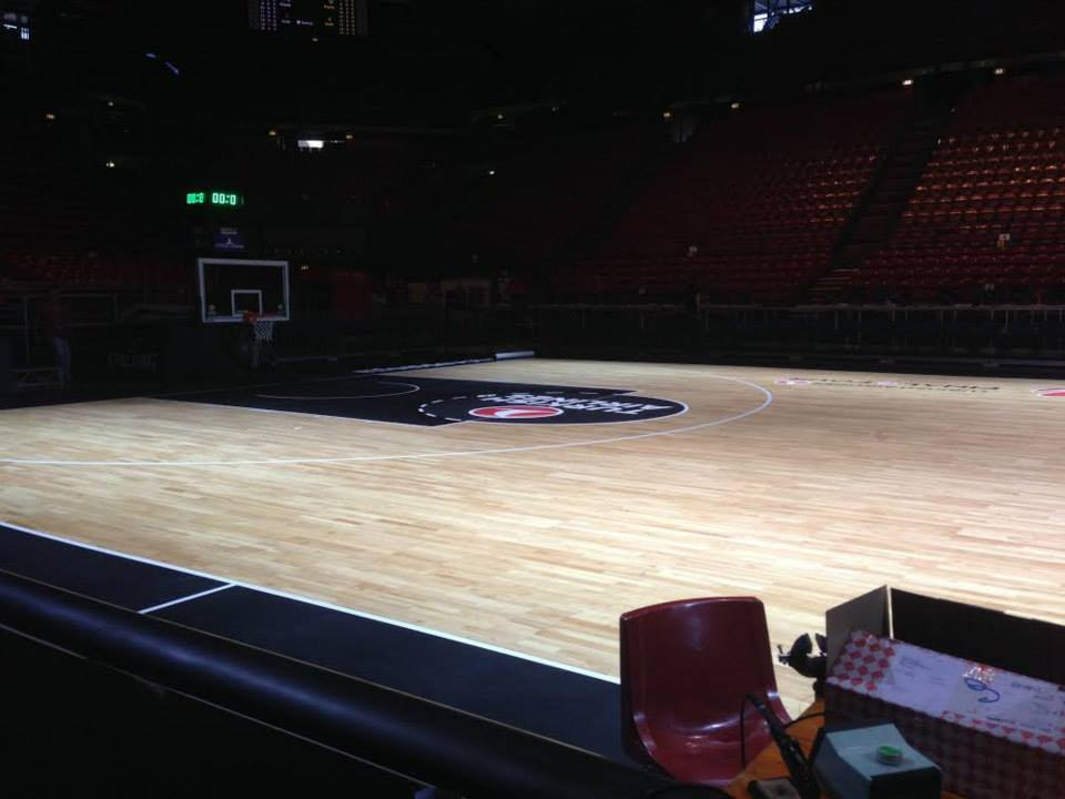 EUROLEAGUE BASKETBALL FINAL FOUR 2014 MILAN PORTABLE SPORTS PARQUET DALLA RIVA ITALY