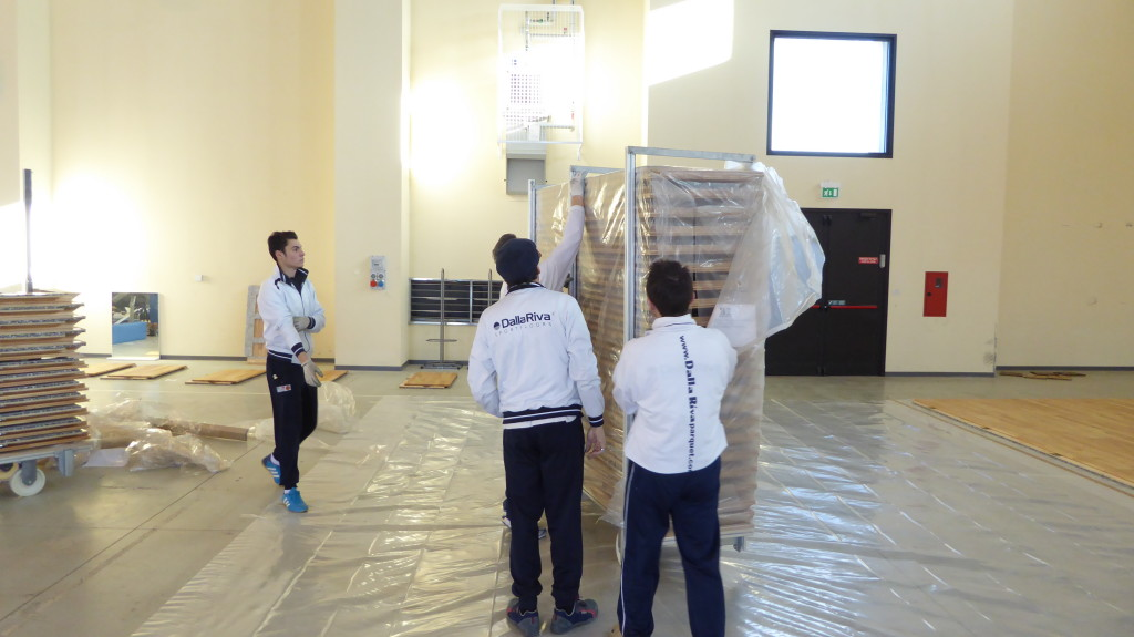 removable sports floor Dalla Riva Aviano 2015