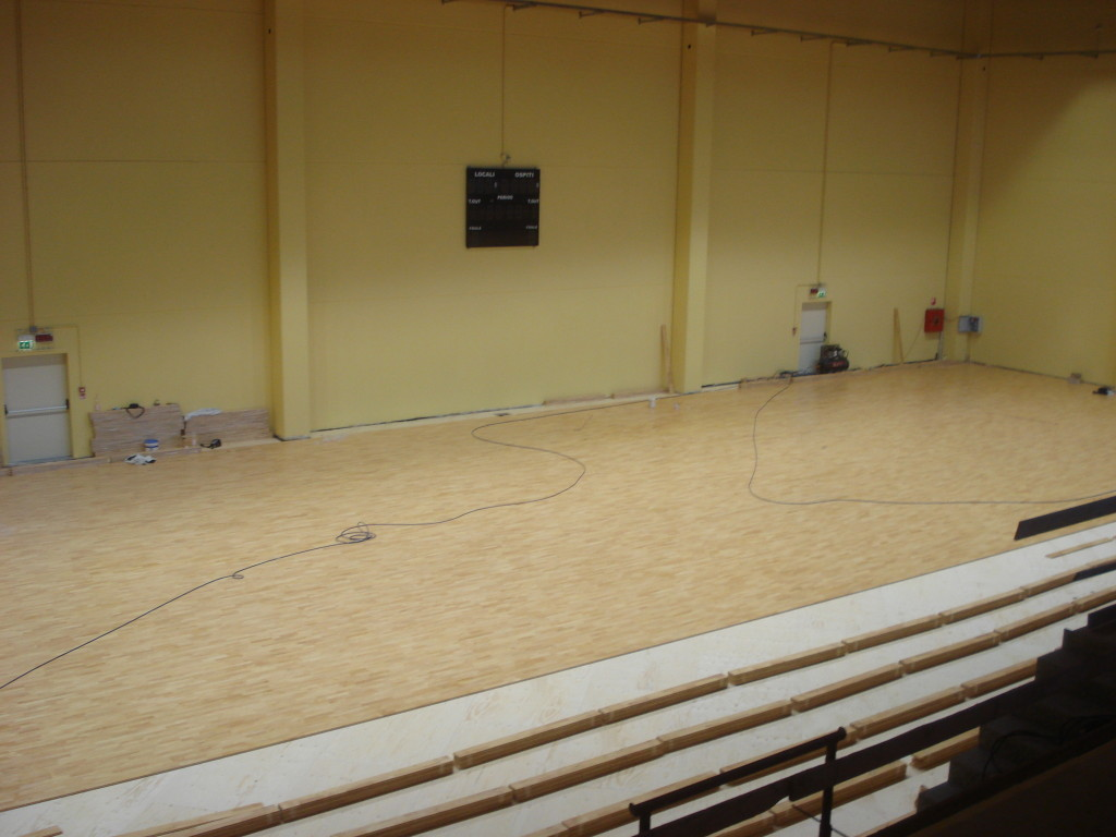 The new model sports parquet Solid Jump System installed by Dalla Riva Sportfloors Izano to be mainly destined for volleyball