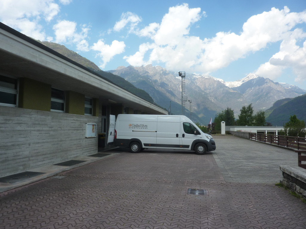 After Piuro, Dalla Riva Sportfloors still in the green mountains of the Val Chiavenna