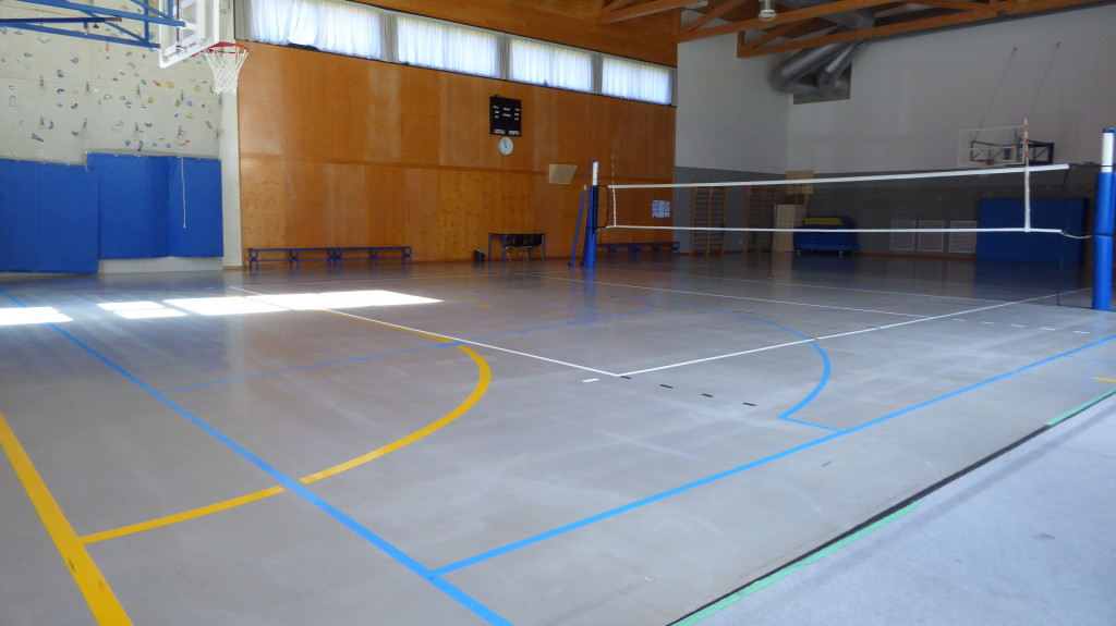 The old floor of the gym of Piuro