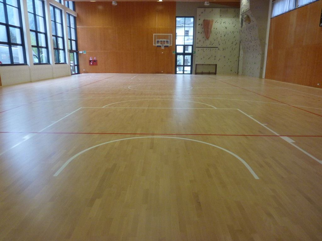The parquet in Piuro, like all those signed Dalla Riva Sportfloors, lends itself to an activity not only competitive but also sports-school