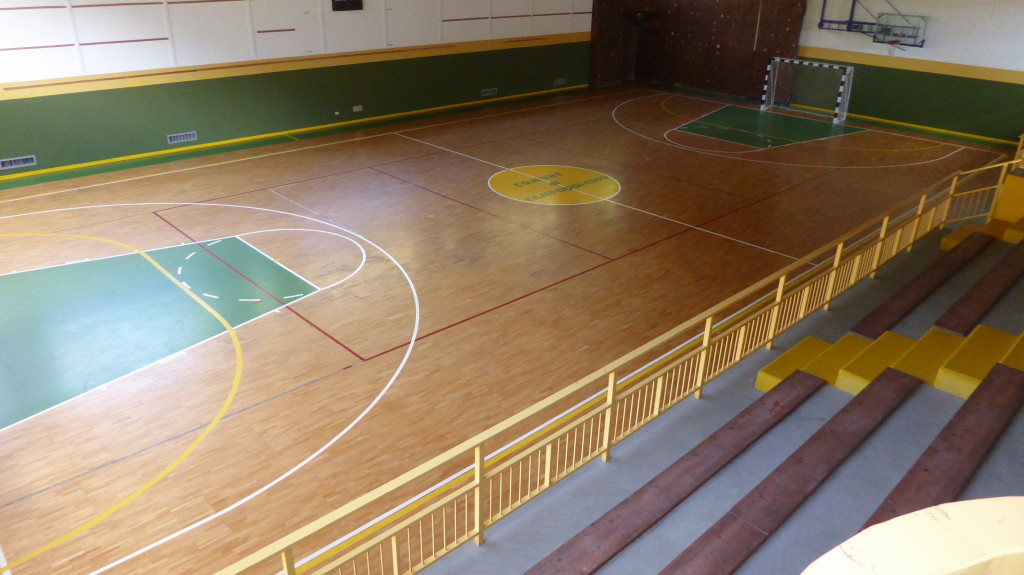 So it was on the old parquet sporting arenas of Campodolcino before surgery Dalla Riva Sportfloors