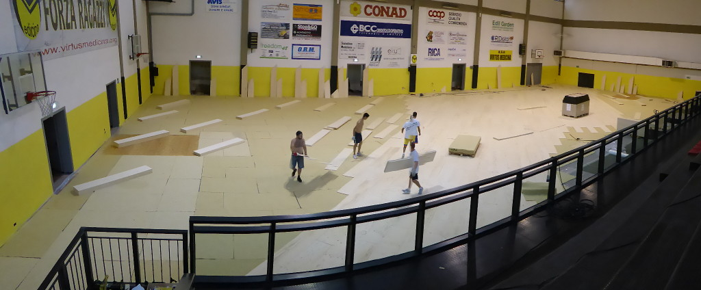 The new sports floor of the sports hall of Medicine will lend itself to any kind of discipline