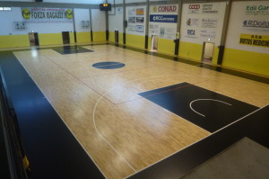 Parquet sports gym of Medicina ... is completely healed!