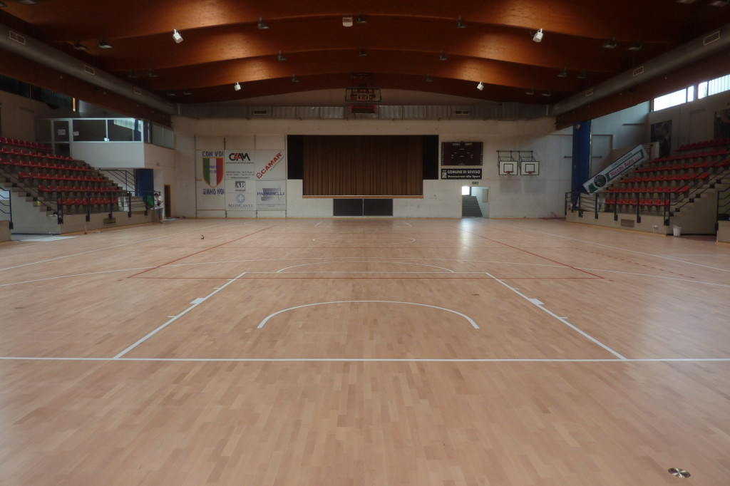The indoor stadium of the Seveso: another prestigious installation for the company of Montebelluna
