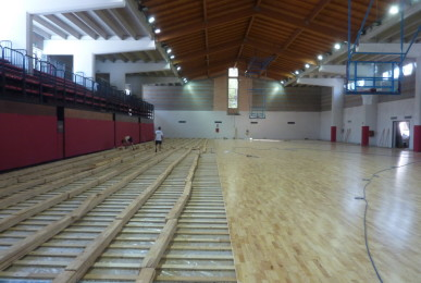 The total area of sports flooring laid at indoor stadium of Bordighera is equal to 1,100 square meters
