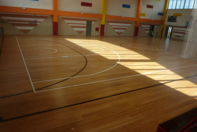 Many appreciations from the users of the gym of the Salesians of Udine for the new sports flooring made in Montebelluna
