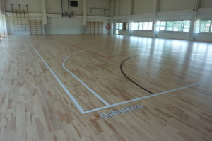 Depending on the needs, Dalla Riva Sportfloors is able to perform the tracing of each type of sportive discipline