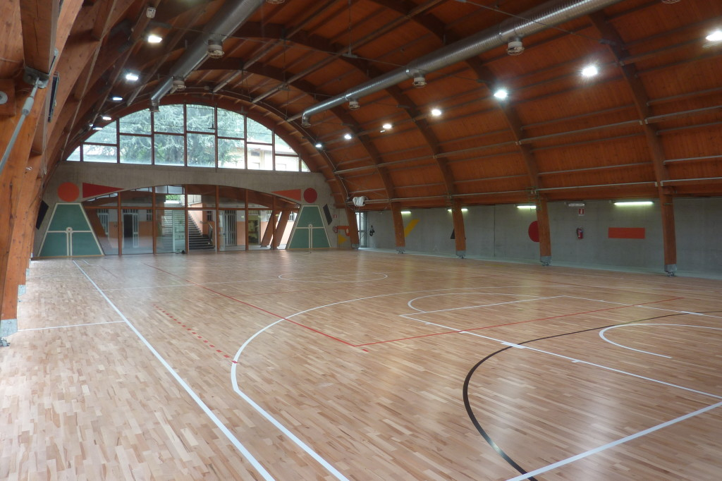 The new Elastic Wood 22 is part of the wide range of sports parquet signed DR