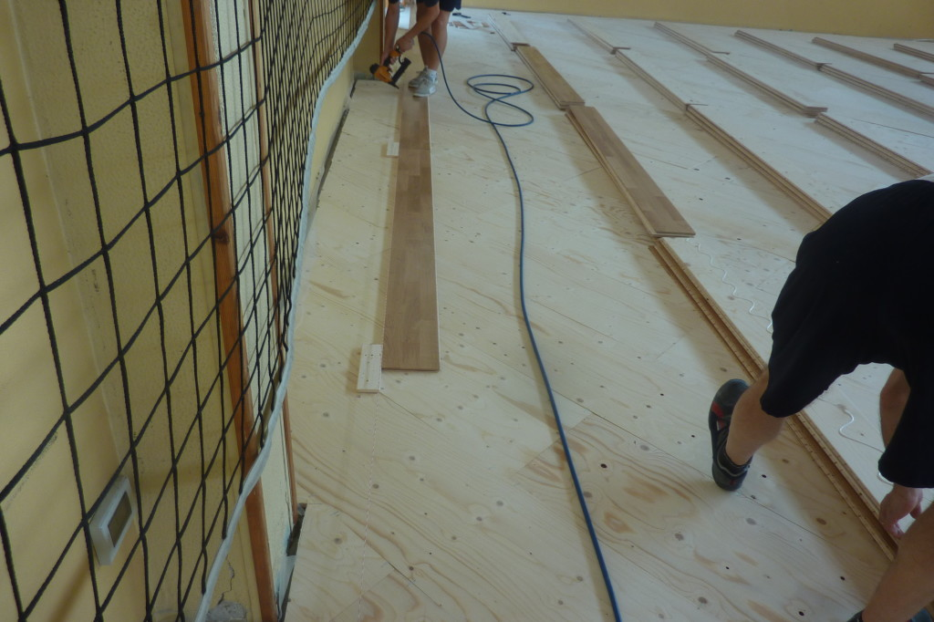 For Dalla Riva Sportfloors interventions of overlap of sports floors on resilient flooring have now become a habit