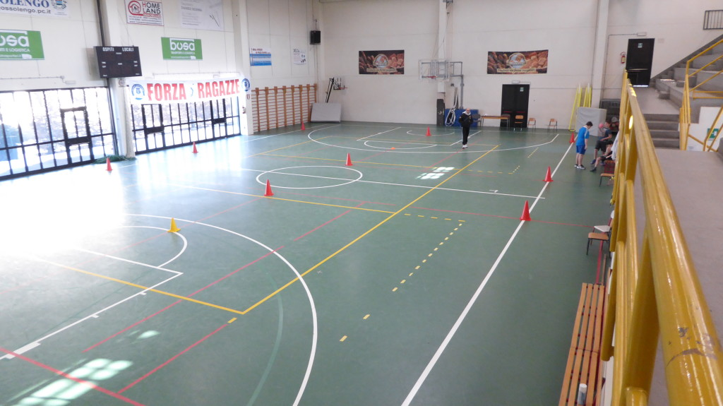 The gym of Gossolengo with the old flooring pvc