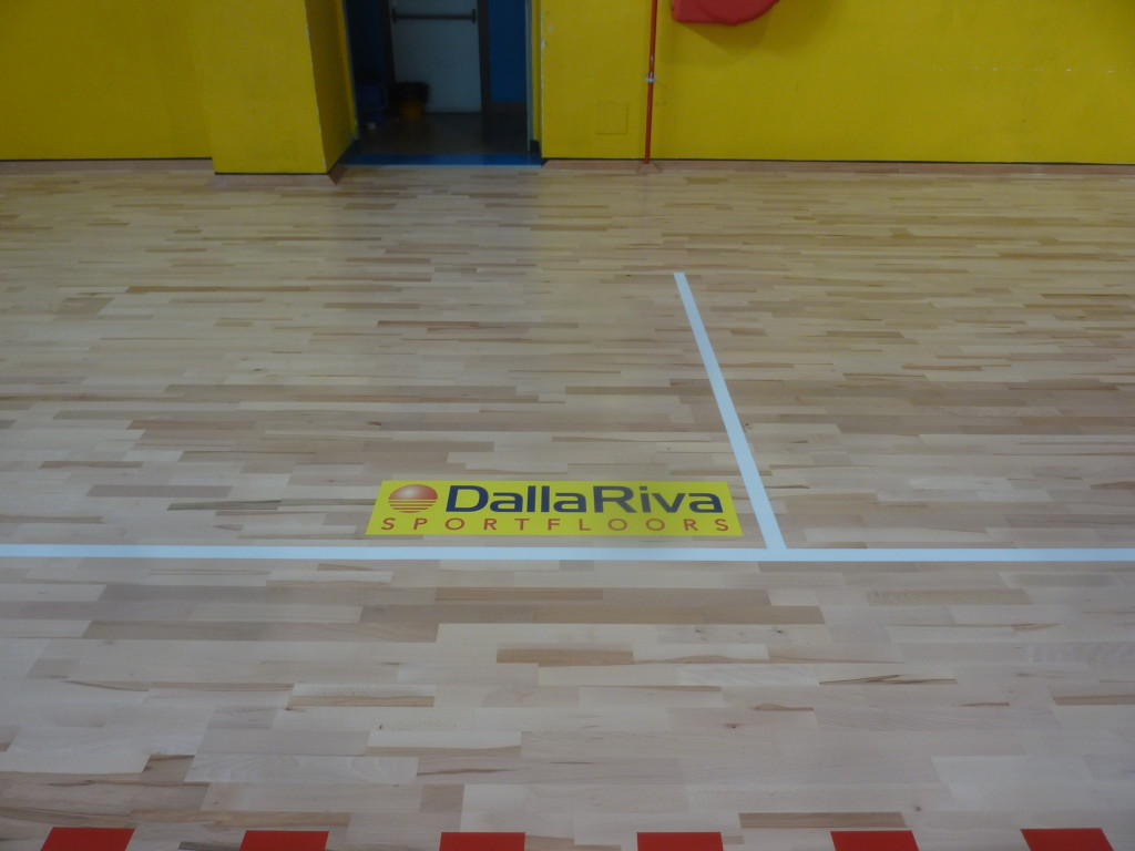 New sports flooring near turin one of the first for Sports flooring