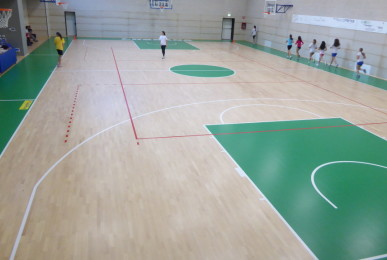 The installation work of the new sports floor in Bergamo is completed
