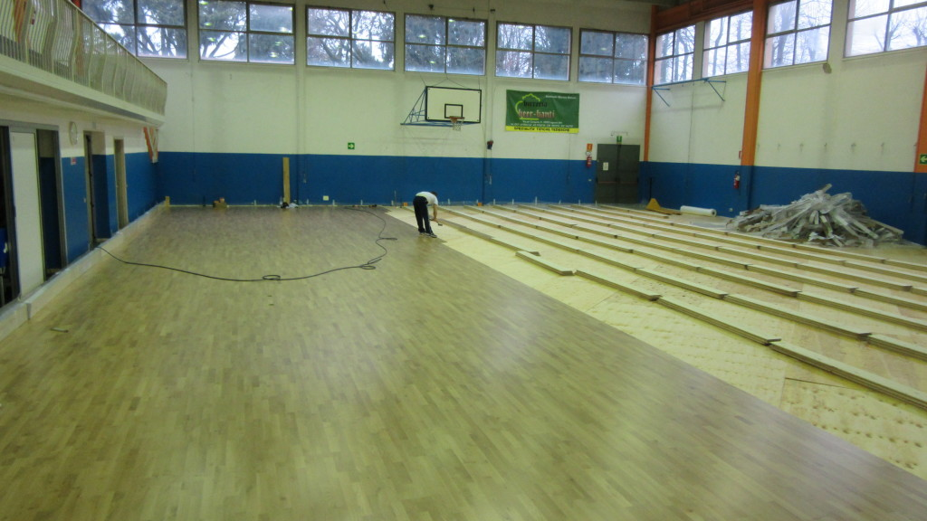 The overlap of the sports flooring to resilient to avoid costly and demanding removal and disposal operations