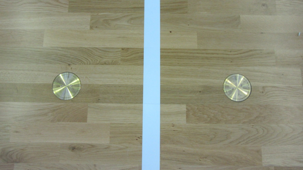 Overlap a new sports parquet to your old pvc linoleum or rubber saving time - Lino pvc imitation parquet ...