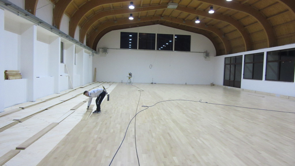 Unique Sports Center Two Gyms For Different Models Dalla Riva Parquet