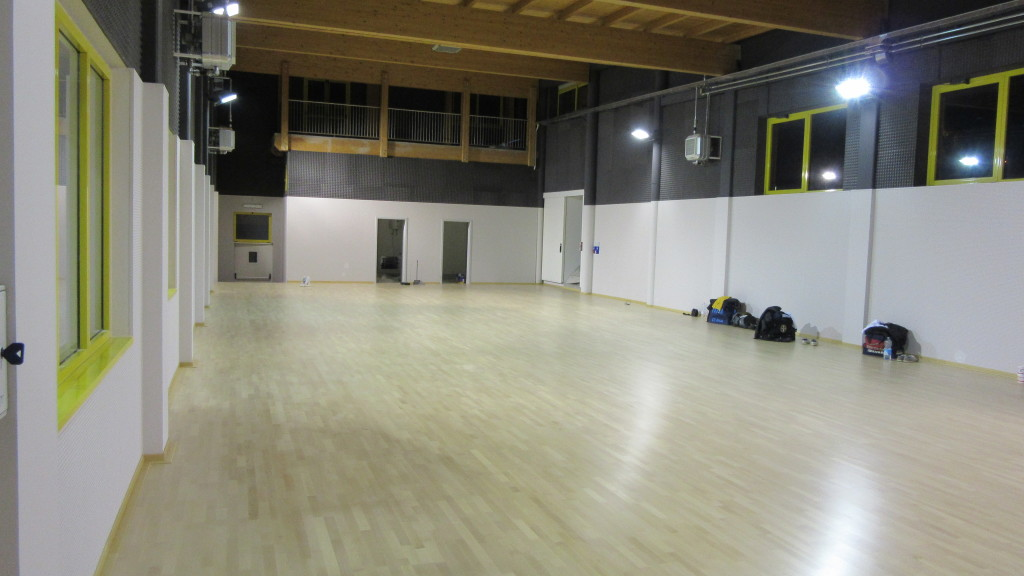 Other phases of installation of the new sports parquet Dalla Riva Sportfloors