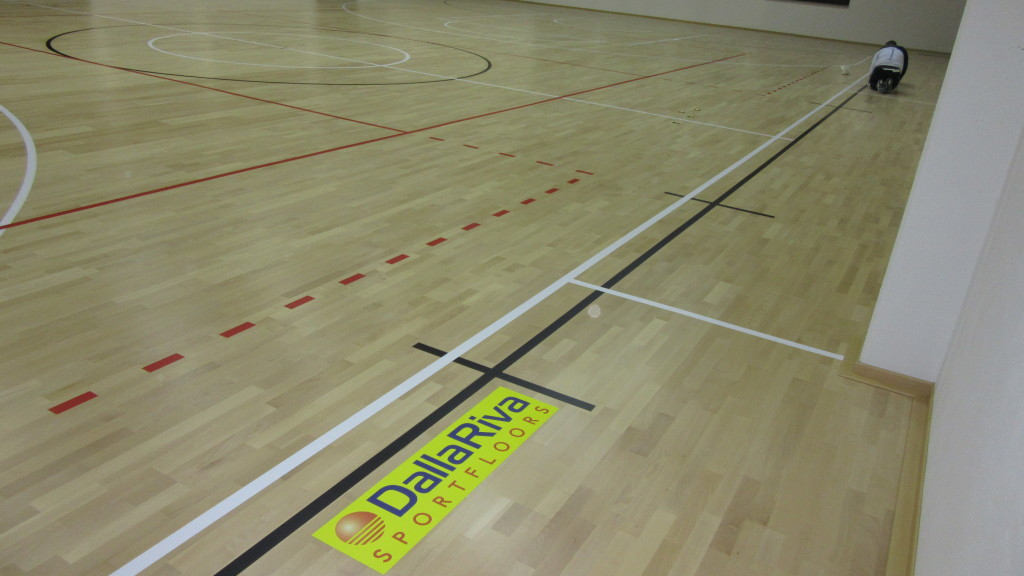 """Another little """"wooden jewel"""" signed by Dalla Riva Sportfloors, durable, elastic and, like all DR floors, FIBA approved"""