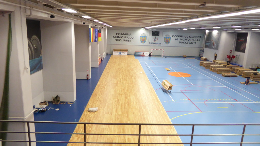 Removable sports parquet Dalla Riva Sportfloors can be assembled in a few hours