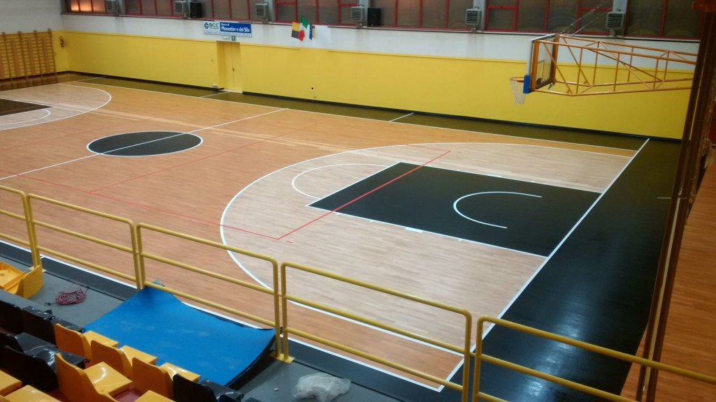 Dalla Riva Sportfloors has customized the floor as requested: the result is definitely impacting