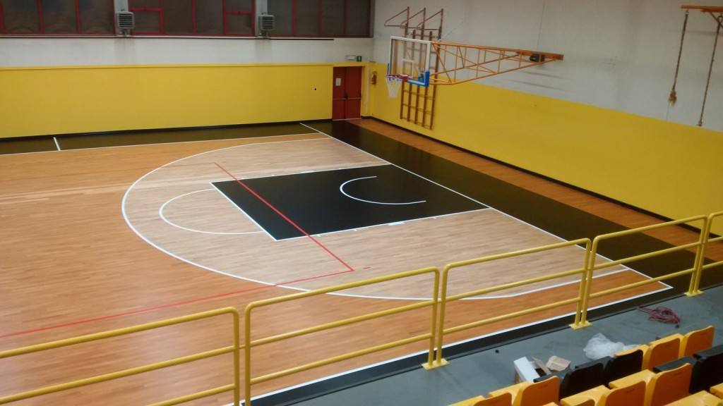 The area contained within three points of the basketball shot was treated and lightened