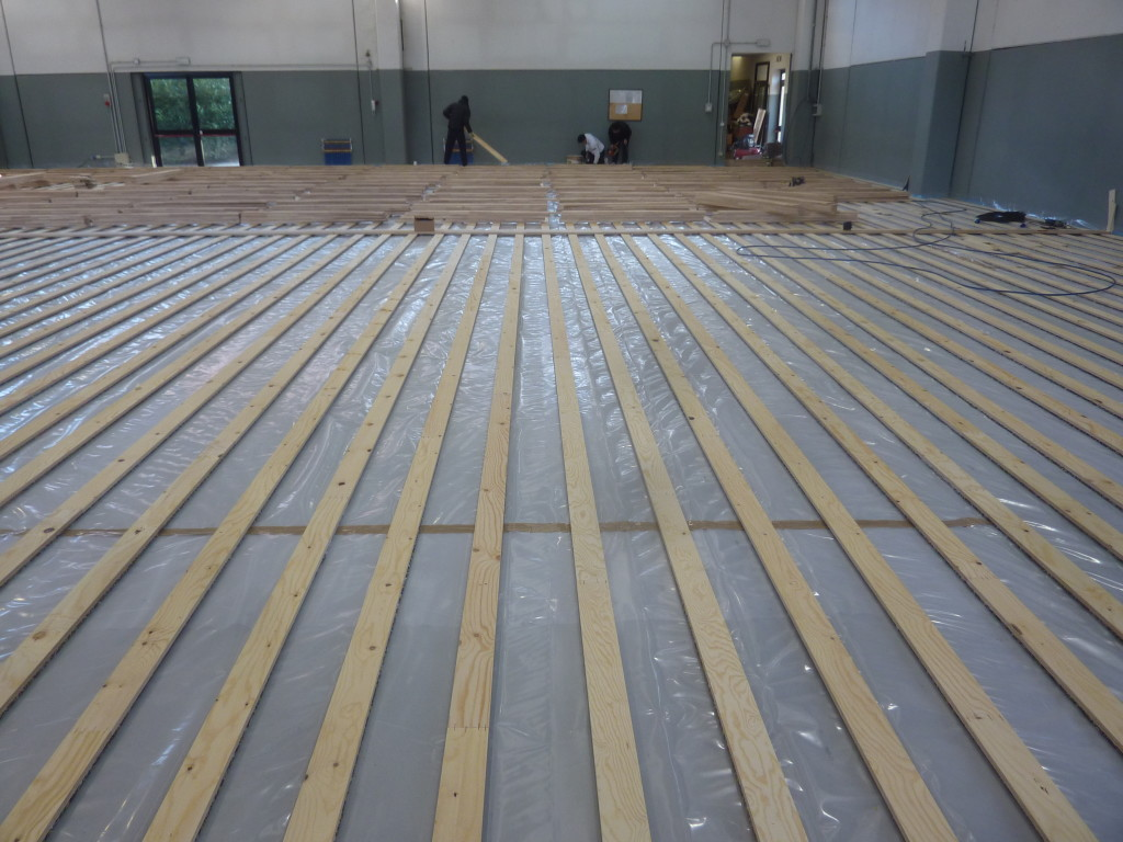 Best flooring for radiant heat - The Chosen Sports Parquet Pattern Of Lombard Gym Is Called Compact 45 Indicated For Radiant