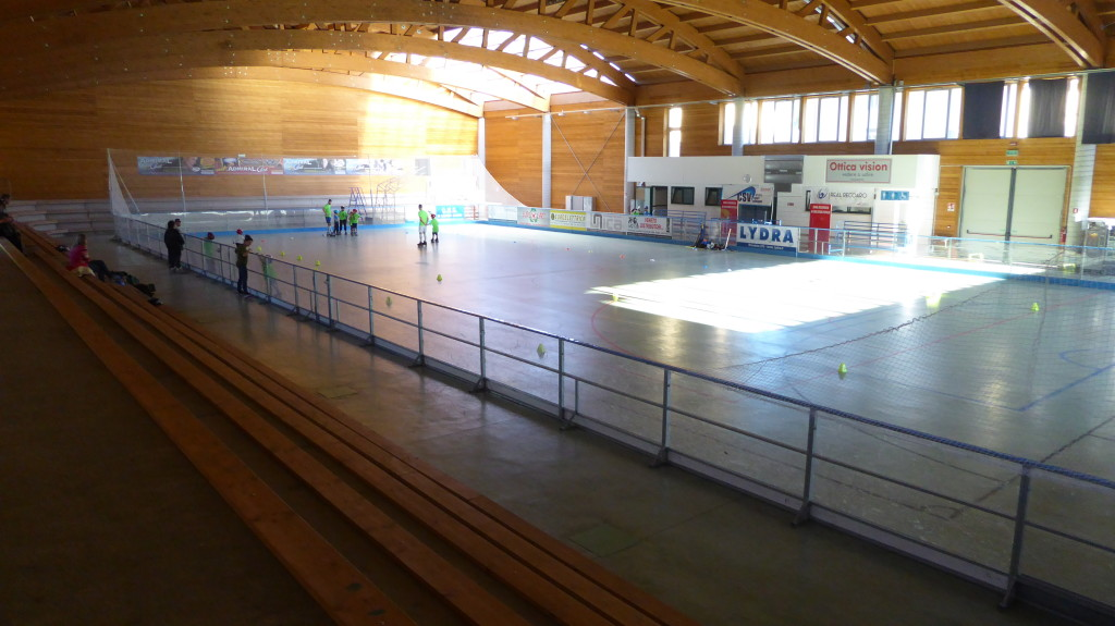 The old cement floor of the sports center in Recoaro Terme before intervention of Dalla Riva Sportfloors
