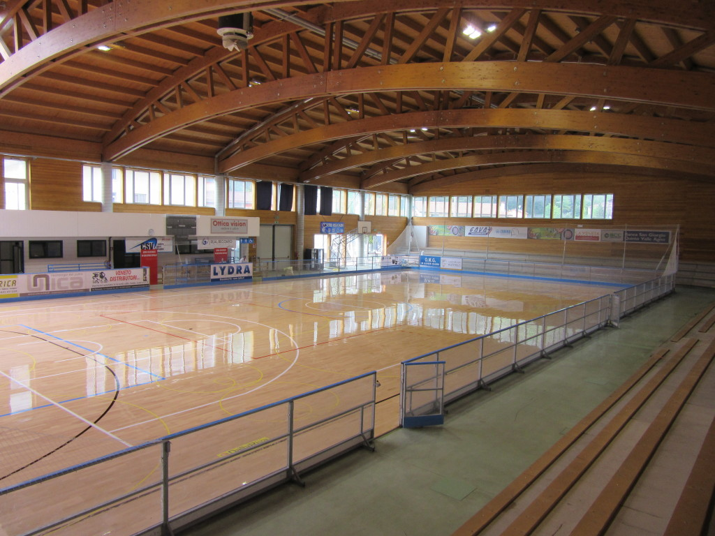 Like all sports floors Dalla Riva Sportfloors also this one of Recoaro Terme is FIBA approved