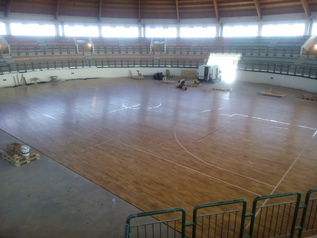 A sports flooring made in Veneto for the beautiful Sicily