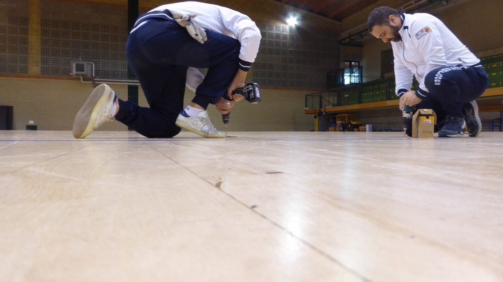 Technical Dalla Riva Sportfloors struggling with the arrangement of the joists
