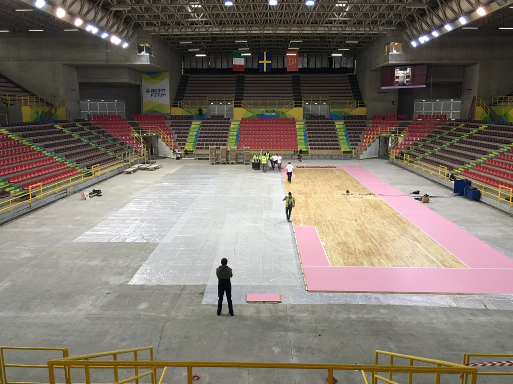 The sports hall of Verona is the seat of the internal games of the Tezenis Basketball in the A2 championship series