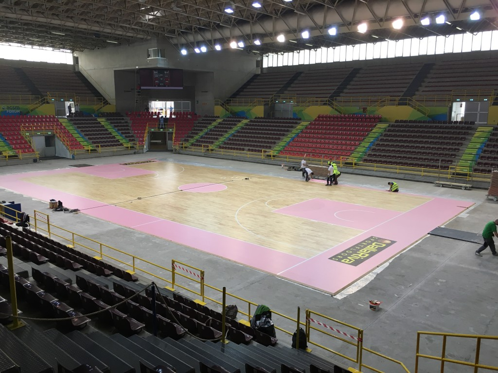 Removable flooring virtually complete: even the Scaligera Verona will play its home games on wooden surface signed DR