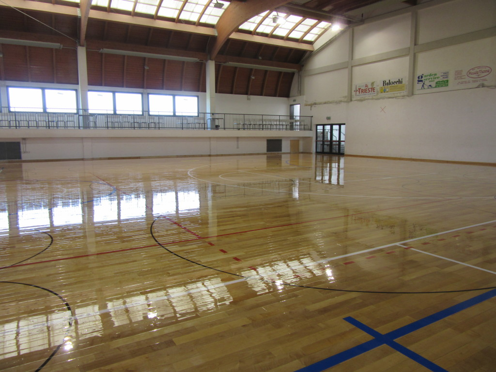 Gradisca Renews The Sports Floor With Sanding And Skating Paint - Skate court flooring