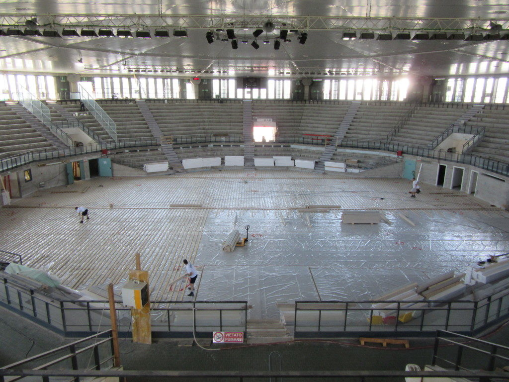 """The """"PalaCarnera"""" of Udine is one of the most important sports arena of the all norht-east Italy: it been closed for years"""