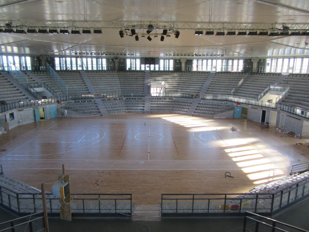 The sport parquet Dalla Riva Sportfloors at the end of the installation