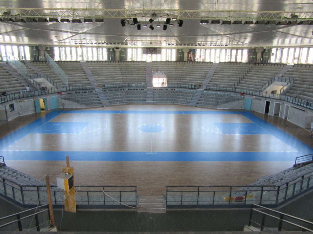 """An other images of """"PalaCarnera"""" after the painting of basket court"""