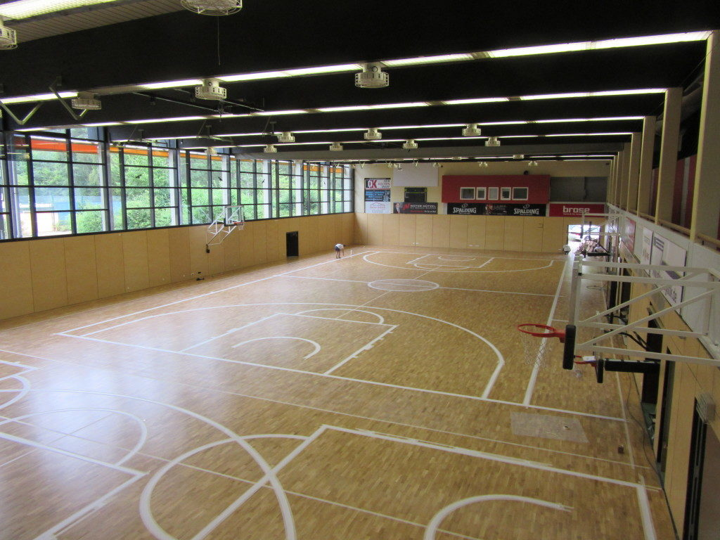 Another perspective of the Brose Baskets gym during the tracking phases