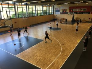 Another beautiful image of the new basketball court of Brose Bamberg, club participating to the Euroleague 2016/2017