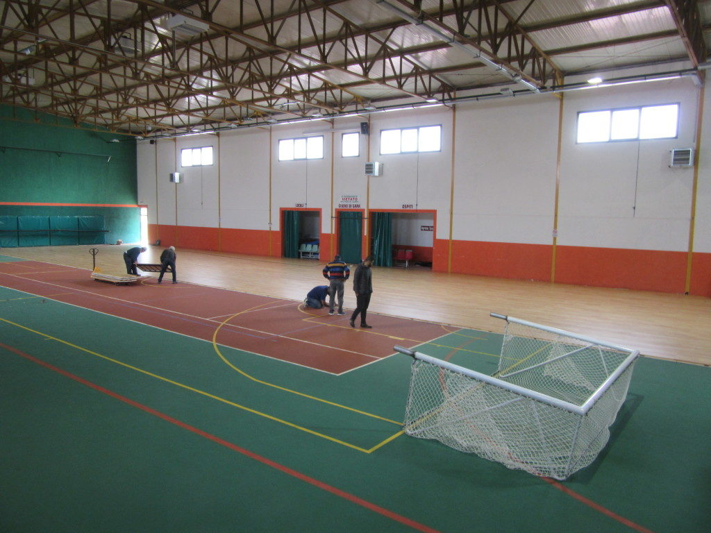 The removable sports flooring of sports hall of Pratola Serra was assembled in only four hours
