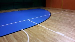 New field of sports hall of Pratola Serra in the province of Avellino, where today host a lot of competitions of futsal