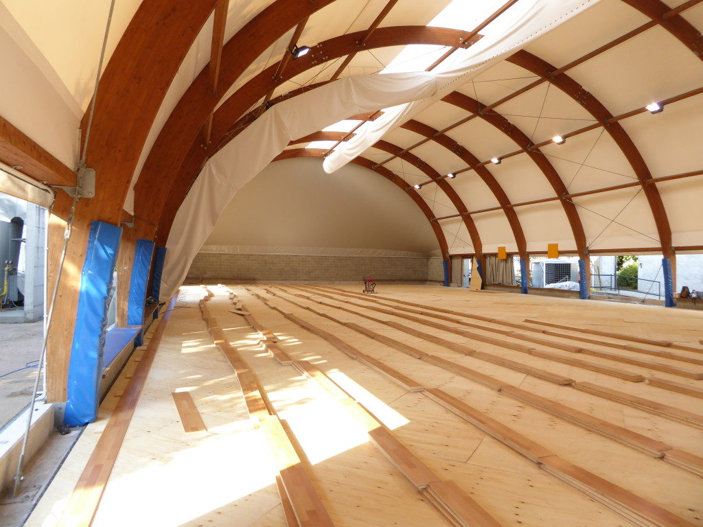 For the gym of Agil Volley Trecate, a new sports flooring signed DR instead of pvc